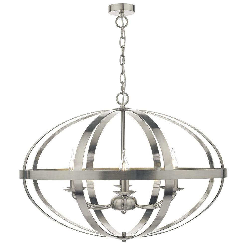 Symbol 6 Light Pendant Satin Chrome
